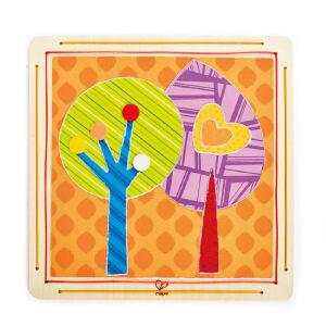 【特惠】HapeDIY布贴画-梦幻森林4岁以上儿童创意早教布贴画绘画手工E5106