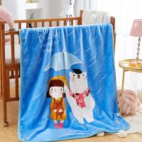 君别儿童云毯双层加厚小孩毛毯秋冬季幼儿园宝宝午睡被子婴儿车小毯子 110x140cm约2.3斤双层加厚加密