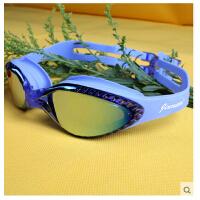 成人游泳镜泳镜近视镜防雾大框透明 带度数成人男女士游泳眼镜