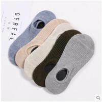 隐形袜棉船袜日系纯色浅口棉袜硅胶防滑吸汗低帮短袜