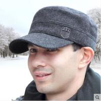 韩版潮平顶帽户外冬天棒球帽子冬季保暖帽男士护耳帽