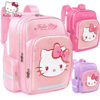 凯蒂猫可爱一二三1-2-3年级减负小学生书包HELLO KITTY轻便双肩包女童大童女孩背包7-10岁女生