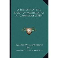 【预订】A History of the Study of Mathematics at Cambridge (188
