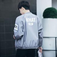 春秋季男士中长韩版外衣青少年潮流夹克高中学生开衫外套男上衣服