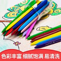 马培德儿童塑料蜡笔12色18色24色36色48色套装儿童不粘手彩色画笔幼儿园宝宝涂鸦填色彩绘笔学生美术腊笔