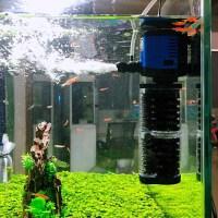 家用水族箱超白玻璃内置鱼缸过滤器静音增氧泵三合一潜水泵乌龟缸水族箱过滤设备 3+3组替