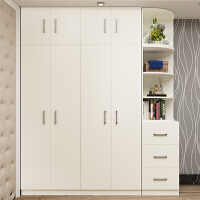 家用简易木质板式衣柜衣帽柜大衣柜衣橱现代简约四五六门实木衣柜