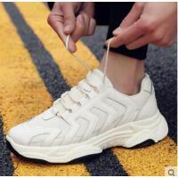 新款老爹小白鞋韩版百搭男鞋运动跑步休闲鞋潮流帆布潮鞋