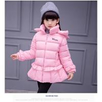 儿童装棉衣女外套小中大童加厚内胆羽绒小学生中长款韩版棉袄