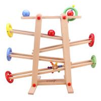 丹妮奇特 木制轨道滑翔游戏 亲子互动木质环保 宝宝开心玩具