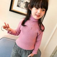 女童毛衣秋装2017新款韩版儿童秋加厚高领针织衫女孩套头打底衫