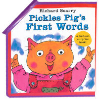 Richard Scarry Pickle Pig's First Words 斯凯瑞童书:小猪学单词(卡板书) IS