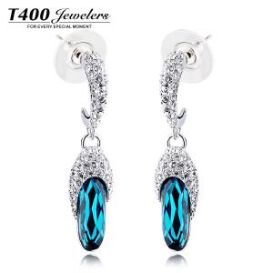 T400采用施华洛世奇元素水晶耳环女 长款耳饰品 日韩版首饰配饰女 2888