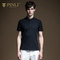 PINLI品立2020夏季新款男装修身潮牌男士短袖T恤POLO衫B202412244