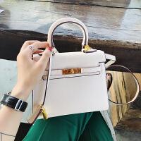 小优家.迷你凯莉包包2018新款女欧美小包包手掌纹单肩手提包SN8697 米白20cm-[预售-先拍先发] 如现货拍完