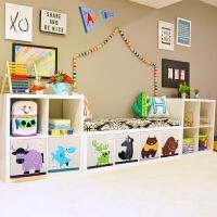 书架书柜简约现代玩具收纳柜子书架组合置物柜单元格子柜 0.6米以下宽