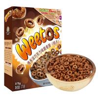 英国原装进口 维多麦(Weetabix)维多滋巧克力味脆麦圈 全谷物儿童营养早餐麦片圈 375g