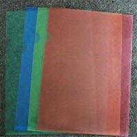 金得利 彩色透明L型文件�A 文件套 �雾��Y料�A A4 文件袋 �Y料袋 E310L型