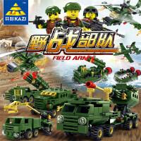 益智儿童拼装玩具男孩4-6-10-12周岁军事小颗粒积木玩具