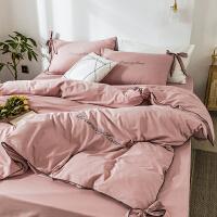 公主风水洗棉四件套床单被套网红款宿舍床上三件套简约少女心夏季