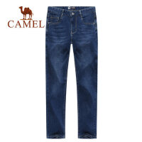 camel骆驼男装 年夏季薄款牛仔裤男修身长裤宽松直筒男休闲长裤子