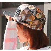 户外女帽平沿棒球帽遮阳鸭舌帽子夏季女士运动字母嘻哈帽子韩版潮
