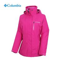 Columbia哥伦比亚户外女防水透气羽绒内胆两件套三合一冲锋衣PL7044