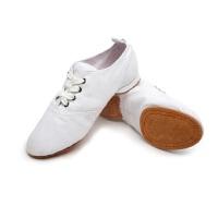 女士软底练功鞋民族舞鞋子 白色帆布舞蹈鞋子教师鞋 瑜伽肚皮鞋芭蕾舞鞋