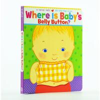 现货包邮卡伦卡茨Karen Katz Where Is Baby's Belly Button英文原版 宝宝的肚脐眼在