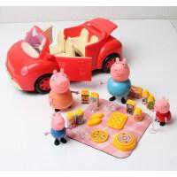 粉红猪小妹 灯光音乐粉红小猪佩佩猪厨房套装过家家玩偶小孩玩具