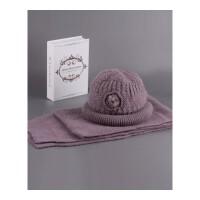 冬天帽子女中老年韩版针织帽盆帽兔毛混纺毛线帽老人礼帽奶奶帽 均码