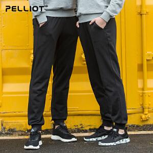 【到手价:111.2 单件8折 再满200-20】伯希和户外卫裤 新品新款春季男女士修身收口束脚休闲运动长裤