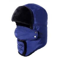 男护耳帽棉帽冬季帽女口罩骑车帽子中老年滑雪东北帽保暖 均码