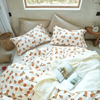 君别卡通针织棉四件套被套长绒棉床笠裸睡床单天竺棉4件套 2.0m(6.6英尺)床 床单款