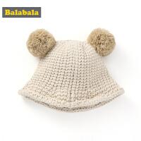 巴拉巴拉女童帽子冬季新款可爱韩版宝宝保暖儿童针织毛线帽盆帽男