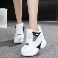 女鞋运动鞋超高跟隐形内增高鞋韩版松糕鞋厚底坡跟休闲鞋揺摇鞋