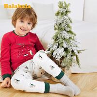 【2件5折价:79.95】巴拉巴拉儿童秋衣秋裤套装冬季时尚男女童保暖内衣圣诞洋气小童潮