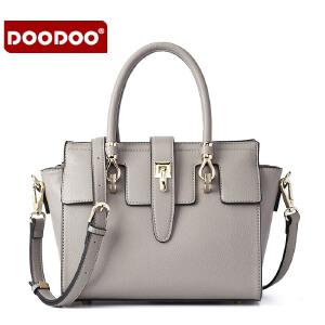 【支持礼品卡】DOODOO 包包2018新款时尚女士斜挎包日韩简约女包手提单肩包明星同款铂金包 D6110