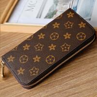 欧美女士钱包女长款拉链手拿包情侣款男士大钞钱夹大容量皮夹