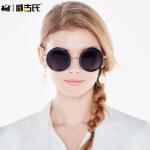 威古氏偏光太阳镜女士时尚潮人圆框复古墨镜