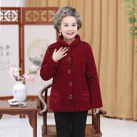 老人秋冬装外套妈妈装大码奶奶装棉衣加绒加厚中老年女装棉袄 2