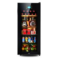 冰吧冰箱家用冷藏柜红酒柜恒温家用茶叶客厅小型 黑色