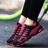 运动鞋男鞋男女情侣跑步鞋时尚休闲飞线马拉松跑鞋学生鞋