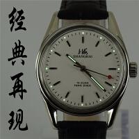 国产手表 库存原装手动机械表7120型复古超薄夜光男表 礼物