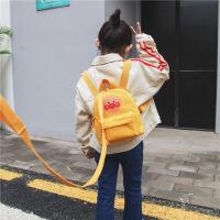 儿童书包 儿童帆布防走失双肩背包可爱卡通面包超人男女童包幼儿园书包
