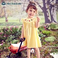 迷你巴拉巴拉女童宝宝连衣裙2021夏装新品婴儿裙子洋气A版公主裙