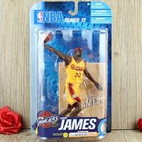 篮球球星手办模型 湖人骑士詹姆斯人偶摆件