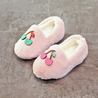 2017新款韩版儿童雪地靴女童鞋棉鞋豆豆鞋宝宝鞋家居拖鞋男童鞋