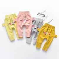 【专区49元3件】罗町春季婴儿长裤男女宝宝小童哈伦裤子