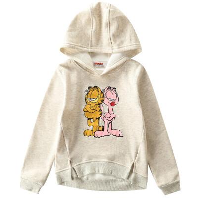 【到手价:42.25元】加菲猫童装女童印花单卫衣GGW17524